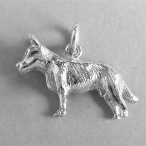 Blue Heeler Dog Charm Sterling Silver or Gold Pendant