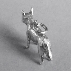 Red Heeler Dog Charm Sterling Silver or Gold Pendant