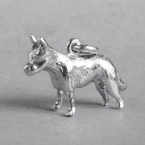 Heeler Australian Cattle Dog Charm Sterling Silver or Gold Pendant