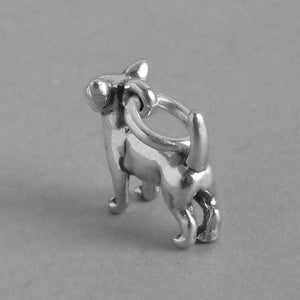 Tiny chihuahua dog charm 925 sterling silver