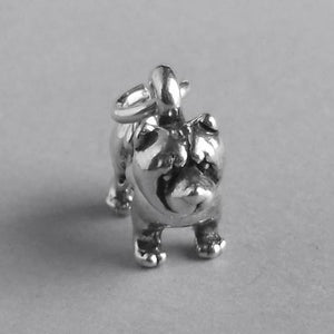 Chow dog breed charm sterling silver 925 pendant