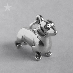 Sterling Silver Dachshund Dog Charm Pendant