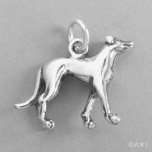 Sterling Silver Greyhound Dog Charm Pendant