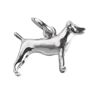 Sterling Silver or Gold Fox Terrier Dog Charm Pendant