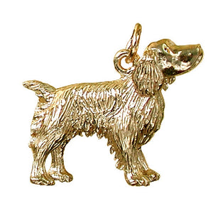 Gold Springer Spaniel Dog Charm Pendant
