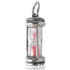 Sterling Silver Pink Sand Hourglass Kiss Timer Charm Pendant