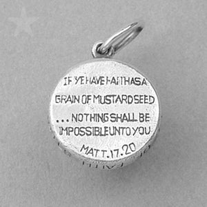 Sterling Silver Mustard Seed Amulet of Faith Charm