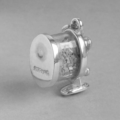 Sterling Silver Mechanical Pencil Sharpener Charm Pendant
