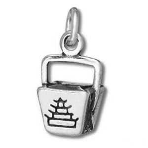 Chinese Takeaway Charm Sterling Silver Food Pendant | Charmarama