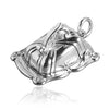 Sterling Silver or Gold Opening Cheese Dish and Mouse Charm Pendant