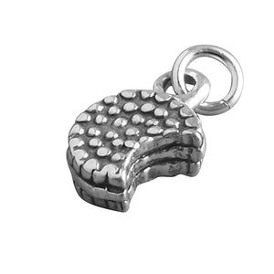 Biscuit Charm Sterling Silver Cookie Pendant | Charmarama