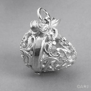 Filigree Egg Charm