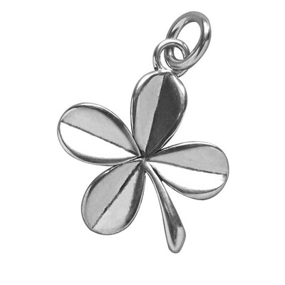 Sterling Silver Lucky Four Leaf Clover Charm | Silver Star Charms