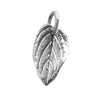 Leaf Charm Sterling Silver Nature Pendant | Silver Star Charms