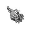 Poppy Seed Pod Charm Sterling Silver Flower Pendant | Silver Star Charms
