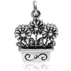Sterling Silver Flowers in Window Box Charm