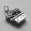 Sterling Silver Flowers in Pot Charm