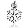 Snowflake Charm in Sterling Silver | Charmarama