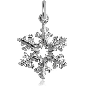 Snowflake Charm Sterling Silver or Gold