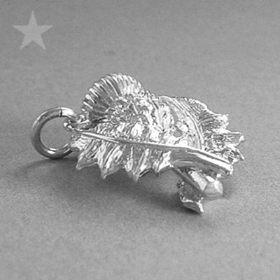 Sterling Silver Thistle Charm Pendant