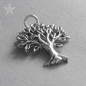 Sterling Silver Leafy Tree Charm