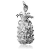 Pineapple Charm Sterling Silver or Gold Fruit Pendant | Silver Star Charms