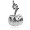 Pumpkin charm sterling silver or gold pendant | Charmarama