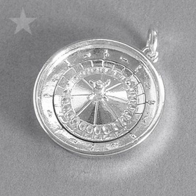 Roulette Wheel Charm Sterling Silver or Gold