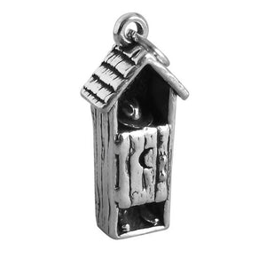 Outhouse toilet loo charm sterling silver pendant | Charmarama