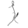 Sterling Silver or Gold Pruning Shears Charm