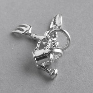 Garden tools charm sterling silver or gold pendant