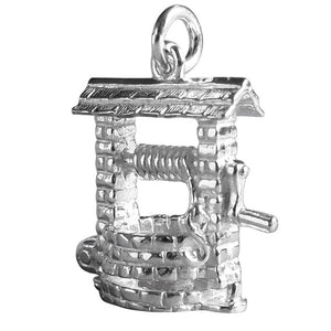 Sterling Silver or Gold Opening Wishing Well Charm | Silver Star Charms