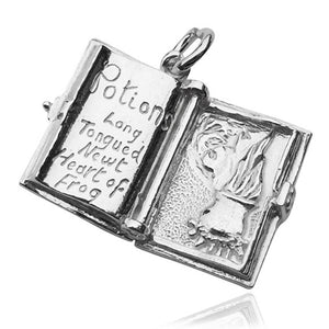 Halloween Spell Book Charm which Opens