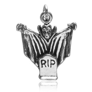 Dracula charm 925 sterling silver halloween pendant