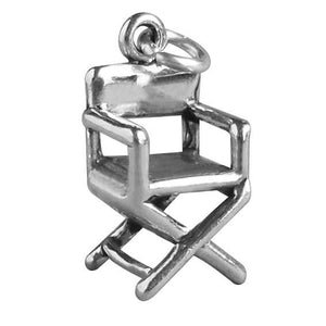 Sterling Silver Film Director Chair Charm