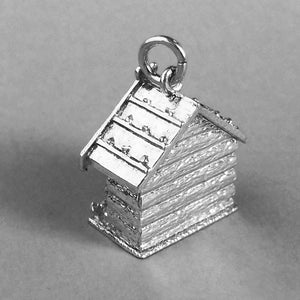 Moving Weather House Charm in Sterling Silver or Gold
