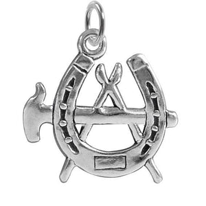 Sterling Silver Blacksmith Farrier Tools Charm | Charmarama