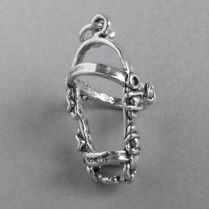 Horse Bridle Sterling Silver Tack Charm | Charmarama
