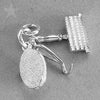 Horse Grooming Kit Charm in Sterling Silver or Gold
