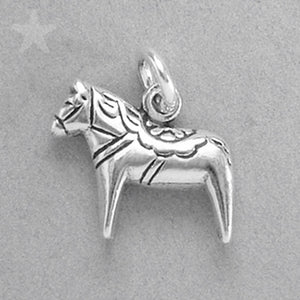 Sterling Silver Dala Horse Charm