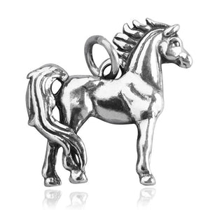 Sterling Silver Pony Charm Pendant