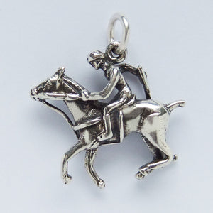 Sterling Silver Polo Pony and Player Charm