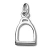 Stirrup tack charm 925 sterling silver pendant