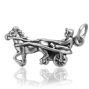 Harness Racer Trotting Horse Charm