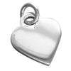 Sterling Silver Heart Charm Pendant for Engraving