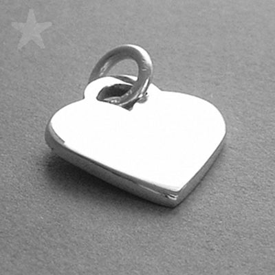 Sterling Silver Engraveable Heart Charm Pendant