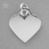 Sterling Silver Heart Charm Pendant to Engrave