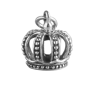 Crown Charm Sterling Silver Royal Queen King Pendant