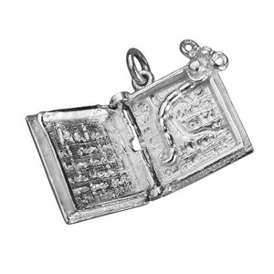 Bookworm in Book Food for Thought Charm