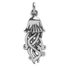 Jellyfish Charm Sterling Silver Sea Life Pendant | Silver Star Charms